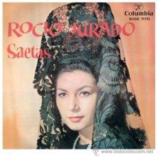 Discos de vinilo: ROCIO JURADO EP SAETAS CON ACOMPAÑAMIENTO DE BANDA DE CORNETAS Y TAMBORES. Lote 27283299