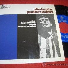 """Discos de vinilo: ALBERTO CORTEZ POEMAS Y CANCIONES. SOMBRAS +3 7"""" EP 1967 HISPAVOX EXCELENTE ESTADO. Lote 27287630"""