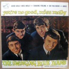 Discos de vinilo: SWINGING BLUE JEANS EP SPAIN 1964 - ODEON 14063 - BEAT BEATLES. Lote 27319629