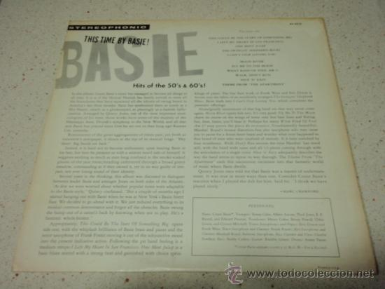 Discos de vinilo: COUNT BASIE 'THIS TIME BY BASIE! HITS OF THE 50'S AND 60'S' USA 1960 LP33 REPRISE RECORDS - Foto 2 - 27320101
