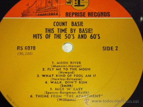 Discos de vinilo: COUNT BASIE 'THIS TIME BY BASIE! HITS OF THE 50'S AND 60'S' USA 1960 LP33 REPRISE RECORDS - Foto 4 - 27320101