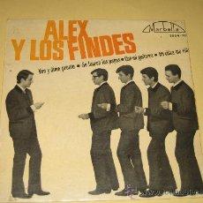 Discos de vinilo: ALEX Y LOS FINDES - DISCOS MARBELLA - 1964. Lote 27342771