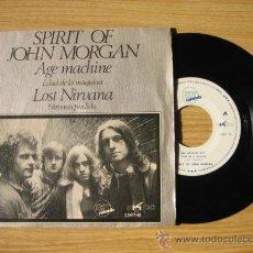 Discos de vinilo: SPIRIT OF JOHN MORGAN - AGE MACHINE - ORIGINAL ESPAÑOL - MUY RARO. Lote 27346505