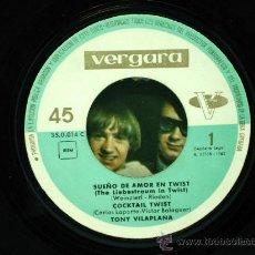 Discos de vinilo: TONY VILAPLANA SUEÑOS AMOR EN TWIST EN CARATULA THE MONKEES DW WASHBURN SINGLE 45 RPM VINILO. Lote 27352698