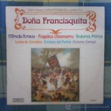 Discos de vinilo: LP - DISCO DE VINILO. DOÑA FRANCISQUITA.. Lote 27357216