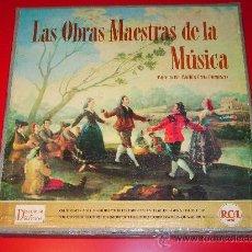 Discos de vinilo: ESTUCHE CON 11 DISCOS · LAS OBRAS MAESTRAS DE LA MÚSICA. Lote 27361032