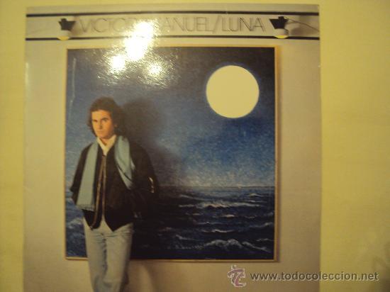 DISCO VINILO LP LUNA - VÍCTOR MANUEL - (Música - Discos - LP Vinilo - Cantautores Españoles)