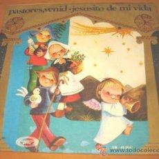 Discos de vinilo: ESCOLANIA DEL COLEGIO DE SAN ANTONIO DE MADRID - PASTORES VENID - SINGLE - VINILO ROJO. Lote 27387159