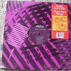 Discos de vinilo: MARC ALMOND, TEARS RUN RINGS, MAXI SINGLE 33 RPM, ¡¡¡¡RARO!!!!. Lote 27402206