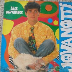 Discos de vinilo: JOVANOTTI, LOS NUMEROS, MAXI SINGLE 45 RPM . Lote 27402409