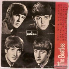 Discos de vinilo: EP DSOE 16579 THE BEATLES ROLL OVER BEETHOVEN - IWANNA BE YOUR MAN ODEON. Lote 27424652