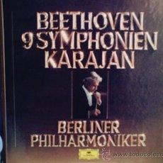 Discos de vinilo: CAJA CON 8 LP BEETHOVEN 9 SYMPHONIEN KARAJAN.AÑO 1978. Lote 27450637