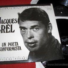 Discos de vinilo: JACQUES BREL UN POETA INCONFORMISTA 2LP 1989 BARCLAY EDICION ESPAÑOLA + LIBRETO. Lote 27473855