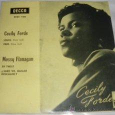 Discos de vinilo: CECILY FORDE // MOSSY MOOSY FLANAGAN EP SPAIN 1962 DECCA EDGE-71698 - LOUIS // 59 TWIST. Lote 27463488