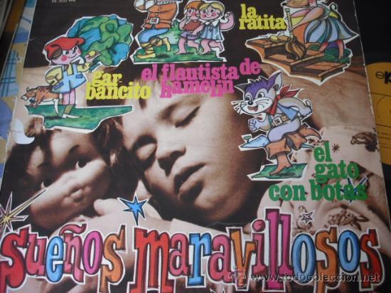 SUEÑOS MARAVILLOSOS - LP CON 4 CUENTOS INFANTILES (Música - Discos - LPs Vinilo - Música Infantil)