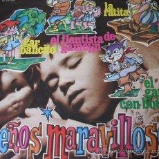 Discos de vinilo: SUEÑOS MARAVILLOSOS - LP CON 4 CUENTOS INFANTILES. Lote 27465985