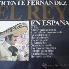 Discos de vinilo: VICENTE FERNANDEZ -EL REY- EN ESPAÑA (VER FOTOS). Lote 27467121