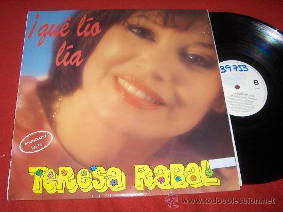 TERESA RABAL QUE LEO LEO LP 1991 HISPAMUSIC FEA MARCA EN GALLETA (Música - Discos - LPs Vinilo - Música Infantil)