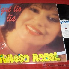 Discos de vinilo: TERESA RABAL QUE LEO LEO LP 1991 HISPAMUSIC FEA MARCA EN GALLETA. Lote 27490303