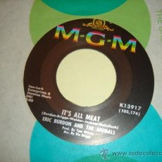 Discos de vinilo: ERIC BURDON AND THE ANIMALS -SG- IT`S ALL MEAT + ANYTHINK - RARE OR USA PROMO. Lote 27503270