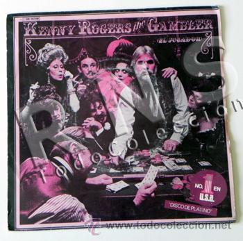 DISCO VINILO 45 RPM KENNY ROGERS THE GAMBLER JUGADOR COUNTRY ESTADOS UNIDOS CANTANTE MÚSICA EEUU (Música - Discos - Singles Vinilo - Country y Folk)