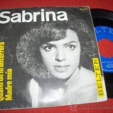 """Discos de vinilo: SABRINA QUAND ON MÈNTERRERA/MADRE MIA 7"""" SINGLE 1966 BELTER. Lote 27511059"""