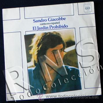 Disco vinilo 45 rpm sandro giacobbe en espa ol comprar for Cancion el jardin prohibido