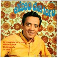 ELISEO DEL TORO - MASSACHUSETTS (THE BEE GEES) - EP SPAIN 1968 - PALOBAL PH-140 - FIRMADO