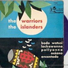 Discos de vinilo: THE WARRIORS / THE ISLANDERS - BODA WATUSI + 3 (EP DE 4 CANCIONES) DISCOPHON 1960 - VINILO AZUL!. Lote 27579249