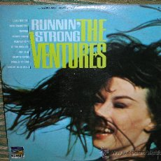 Discos de vinilo: THE VENTURES - RUNNIN´STRONG - ORIGINAL U.S.A. - SUNSET 1966 -STEREO -. Lote 27682116