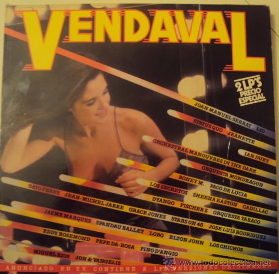 DISCOS VINILO (2) LP VENDAVAL - ELTON JOHN, PACO DE LUCÍA, LOS SECRETOS, LOS CHICHOS... (Música - Discos - LP Vinilo - Otros estilos)