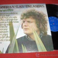 Discos de vinilo: BRAULIO SOBRAN LAS PALABRAS LP 1975 BELTER. Lote 27643733