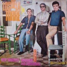 Discos de vinilo: LOS DE LA TORRE CON FIRMAS AUTÓGRAFAS DE LOS TRES. Lote 27646701