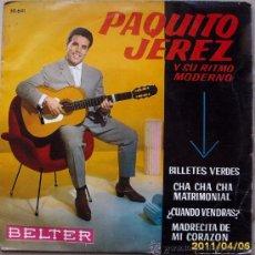 Discos de vinilo: PAQUITO JEREZ Y SU RITMO MODERNO 1962. Lote 27647276
