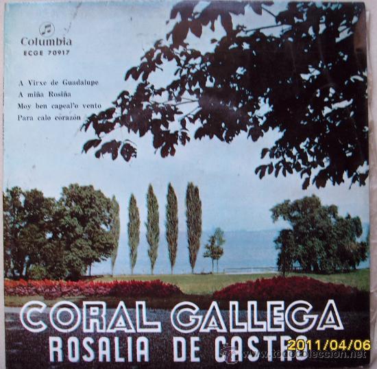 CORAL GALLEGA ROSALIA DE CASTRO (Música - Discos - Singles Vinilo - Étnicas y Músicas del Mundo)