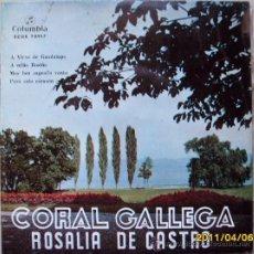 Discos de vinilo: CORAL GALLEGA ROSALIA DE CASTRO. Lote 27647804