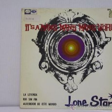 Discos de vinilo: LONE STAR - IT'S A MAN'S MAN'S WORLD / LA LEYENDA / RIO SIN FIN /ALREDEDOR DE ESTE MUNDO - EMI 1966. Lote 27650240