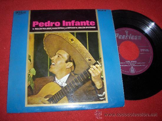 """PEDRO INFANTE EL TREN SIN PASAJEROS 7"""" EP 1965 PEERLESS (Música - Discos de Vinilo - EPs - Grupos y Solistas de latinoamérica)"""