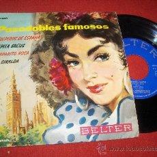 "Discos de vinilo: PASODOBLES FAMOSOS SUSPIROS DE ESPAÑA 7"" EP 1961 BELTER. Lote 27656716"