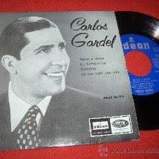 """Discos de vinilo: CARLOS GARDEL MANO A MANO..7"""" EP 1958 ODEON. Lote 27656722"""
