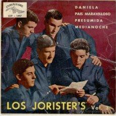 Discos de vinilo: LOS JORISTERS - PRESUMIDA - DANIELA - PAIS MARAVILLOSO - MEDIANOCHE - EP . Lote 27659725