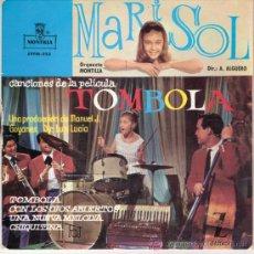 Discos de vinilo: MARISOL - TOMBOLA + 3 (EP DE 4 CANCIONES) MONTILLA 1962 - VG++/VG++. Lote 27671759