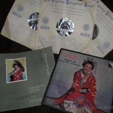Discos de vinilo: PUCCINI MADAME BUTTERFLY TEBALDI..BERGONZI CAJA 3 LP MAS LIBRETO DECCA SPA 1959. Lote 27671780