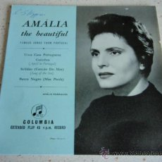 Discos de vinilo: AMÁLIA RODRIGUES ( UMA CASA PORTUGUESA - COIMBRA - SOLIDAO(CANÇAO DO MAR) - BARCO NEGRO(MAE PRETH) ). Lote 27687676