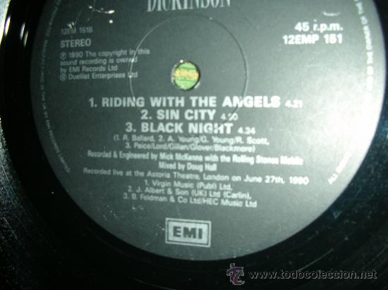 Discos de vinilo: BRUCE DICKINSON- IRON MAIDEN- DIVE! DIVE! DIVE! - MAXI EP 12 - Foto 6 - 27901917