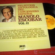 Discos de vinilo: MANOLO ESCOBAR VOL.II LP 1976 BELTER. Lote 194770855