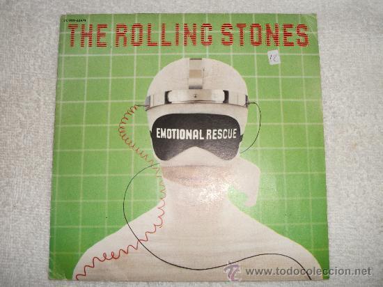 THE ROLLING STONES - EMOTIONAL RESCUE / 1980 PATHE MARCONI / EDICIÓN FRANCESA (Música - Discos - Singles Vinilo - Pop - Rock - Extranjero de los 70)