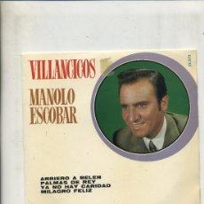 Discos de vinilo: MANOLO ESCOBAR - VILLANCICOS . Lote 27758004