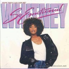 Discos de vinilo: WHITNEY HOUSTON - SO EMOTIONAL - 1987 (COMO NUEVO). Lote 30656679