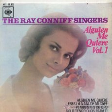 Discos de vinilo: THE RAY CONNIFF SINGERS / SOMEBODY LOVES ME / GOLDEN EARRINGS + 2 (EP 63). Lote 27768227